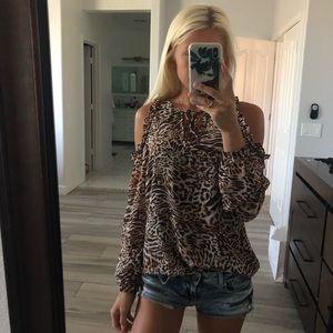 New Michael Kors leopard cheetah shirt